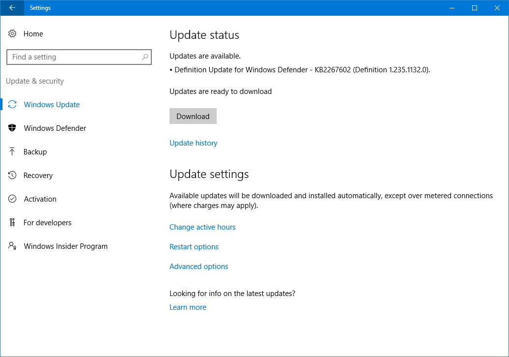 Stop auto updates windows 10 home