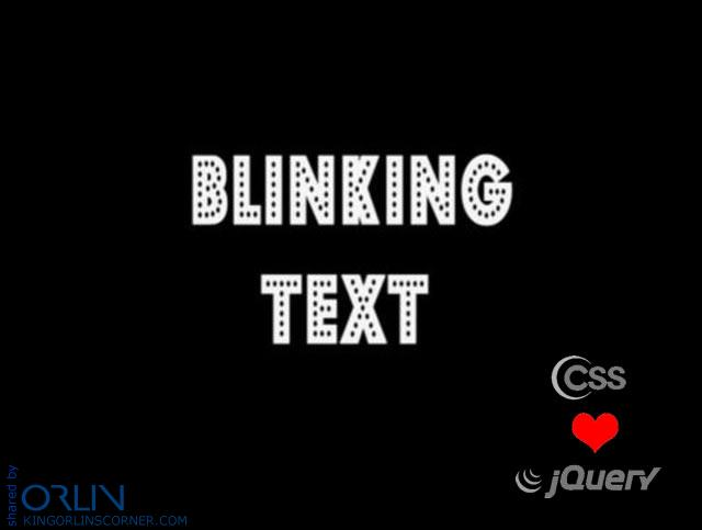 How to make text blinking with CSS or jQuery